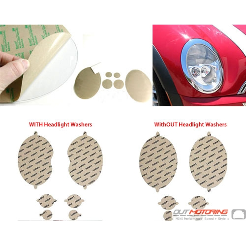 Headlight Protection Film: Tinted: R50/2/3