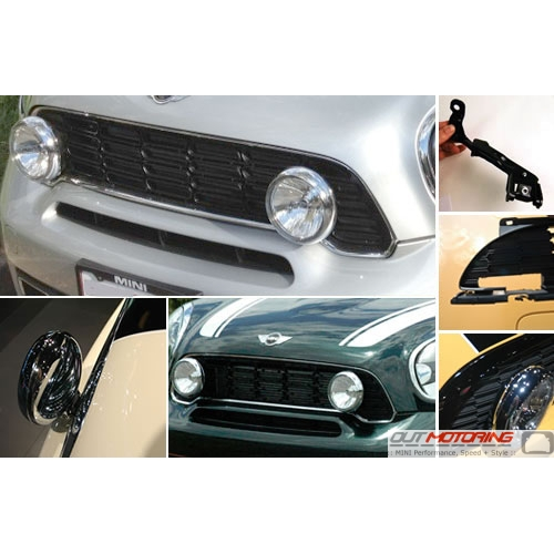 MINI Cooper Driving Light Kit With Brackets + Grill