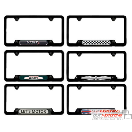 License Plate Frame: Black w/ Accent