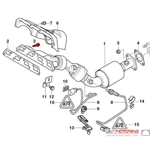 bolt: exhaust manifold