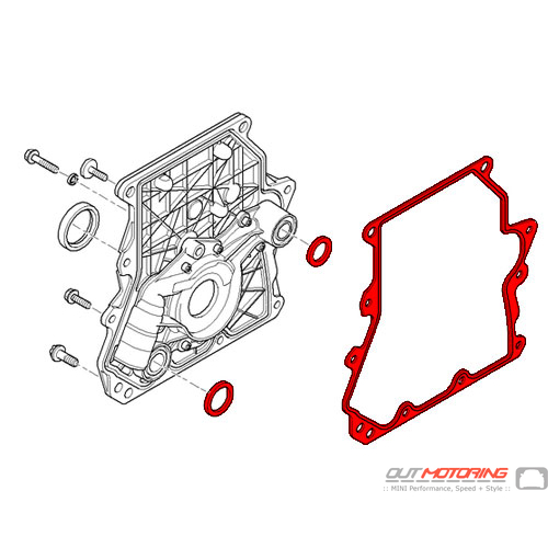 MINI Cooper Timing Chain Cover Gasket Kit 11141485162 - MINI Cooper  Accessories + MINI Cooper PartsOutMotoring