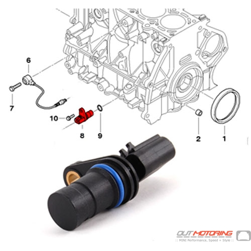 MINI Cooper Crankshaft Pulse Generator Sensor Position