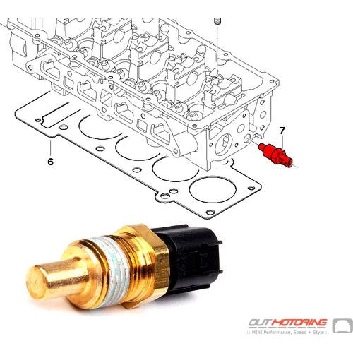 13621486698 Mini Cooper Sensor Coolant Water Temperature Rhoutmotoring: Water Temperature Sensor Location 454 At Gmaili.net