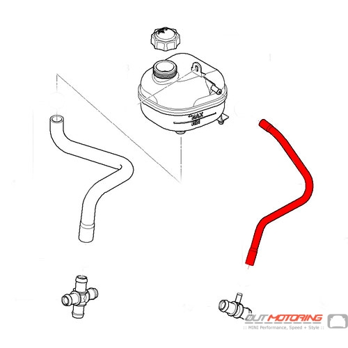17127518577 mini cooper coolant overflow vent hose