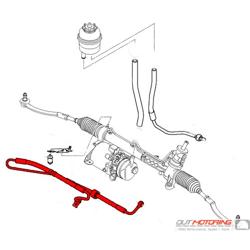 32416781751 Mini Cooper Pressure Hose Assembly Power