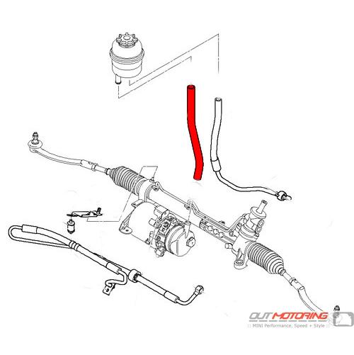 32416754498 mini cooper suction inlet hose