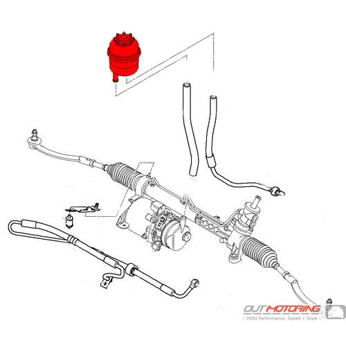 32416851217 mini cooper power steering tank