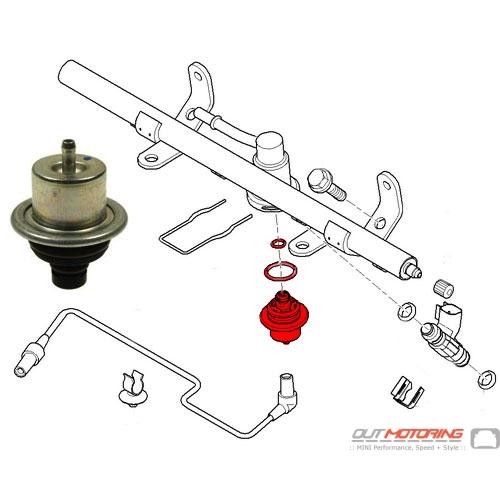 Mini Cooper Fuel Pressure Diagram : Replacement mini cooper fuel pressure regulator