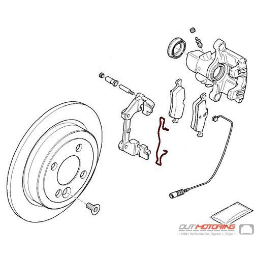 Brake Carrier Clip: Rear