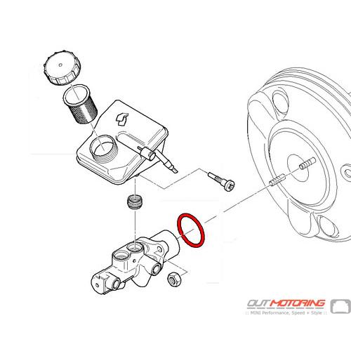 Flexible de freins pour Mini Cooper 1.6 01 To avant 11 hydraulique CORTECO 34321503079 NEUF