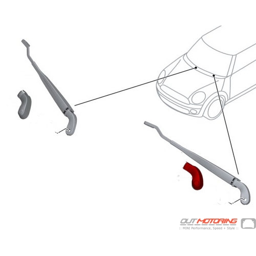 Front Wiper Arm Cover