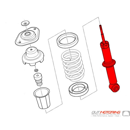 mini cooper replacement rear shock absorber 33506764914