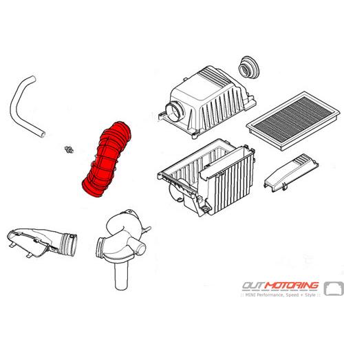 13721491743 Replacement MINI Cooper Intake Inlet Hose