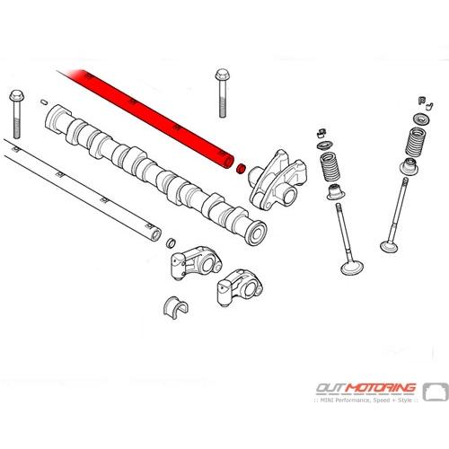 Rocker Arm Axle: Exhaust Side