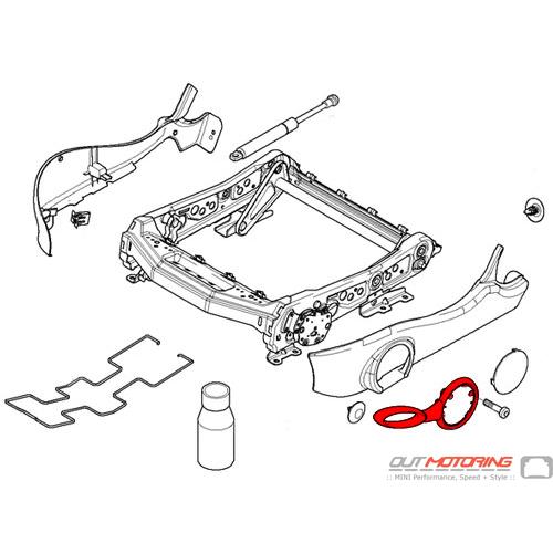 52101486270 52101486271 Mini Cooper R50 R52 R53 Seat Base Lever