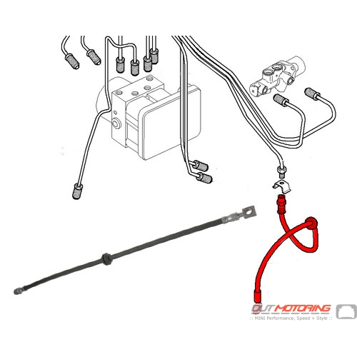 34306794002 mini cooper brake line hose front  r50 r52 r53
