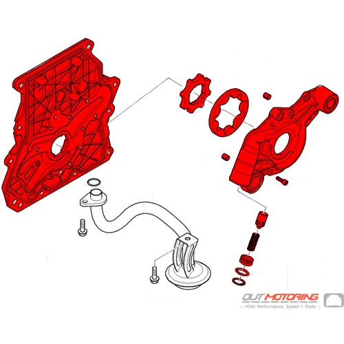 Timing Chain Cover w/ Oil Pump