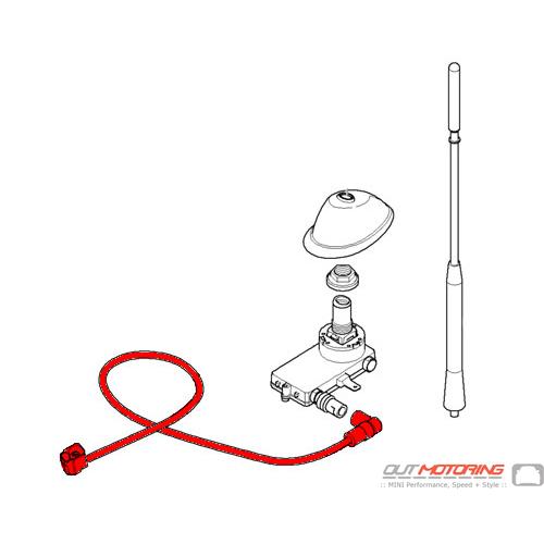 61126921230 mini cooper antenna cable