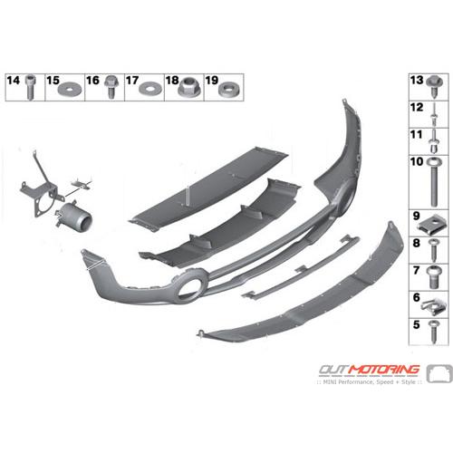 JCW Rear Bumper + Spoiler: R60