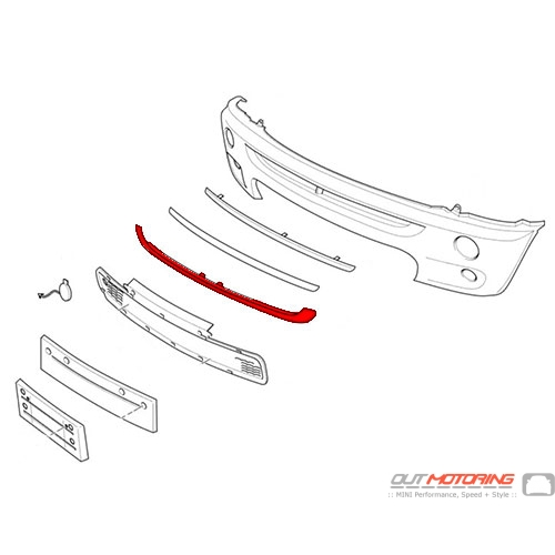 Front Bumper Lower Grill Surround