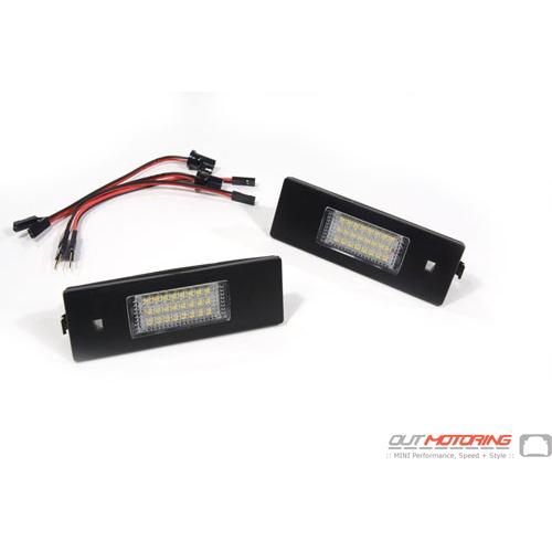 LED License Plate Light Set: R55/R60/R61