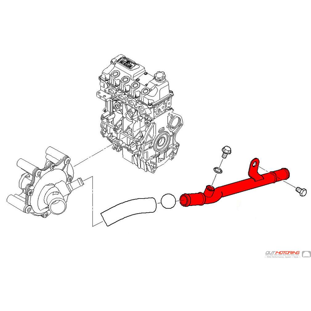 11537514550 coolant line  manual transmission