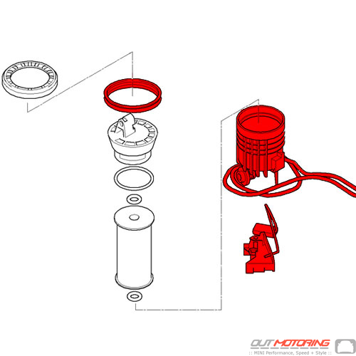 Mini Cooper S JCW Fuel Level Sensor 07-15 16112755084 R56 R57 R55