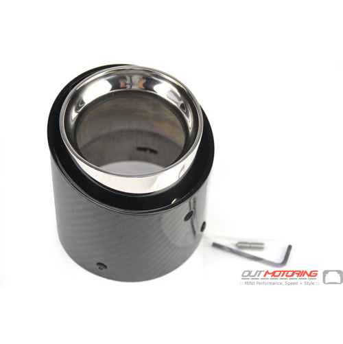Exhaust Tip: Carbon Fiber: 72mm