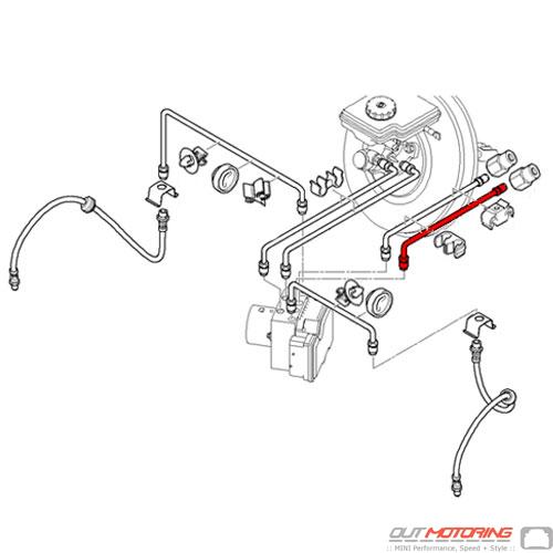Mini Cooper 34306794858 Front Brake Pipe