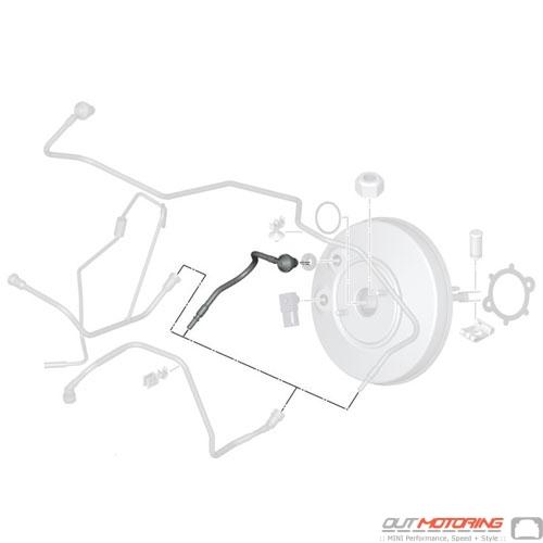 Mini Cooper Brake Servo Unit Vacuum Pipe 34332753124