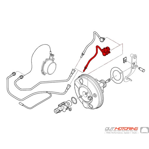 Mini Cooper Brake Servo Unit Vacuum Line W   Pressure
