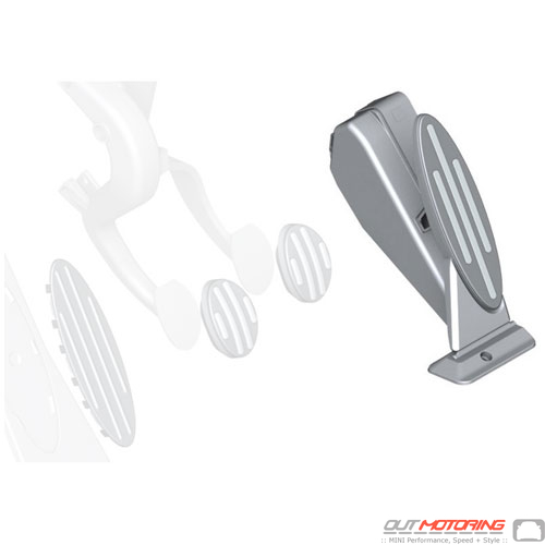 Gas Pedal: Stainless W/ Rubber: Manual