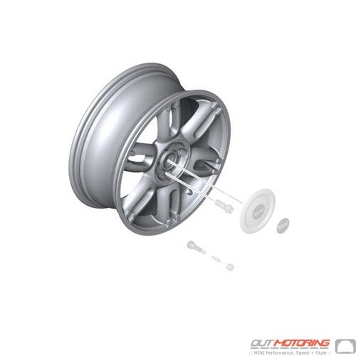 Twin Spoke R128: Light Alloy Rim: Silver