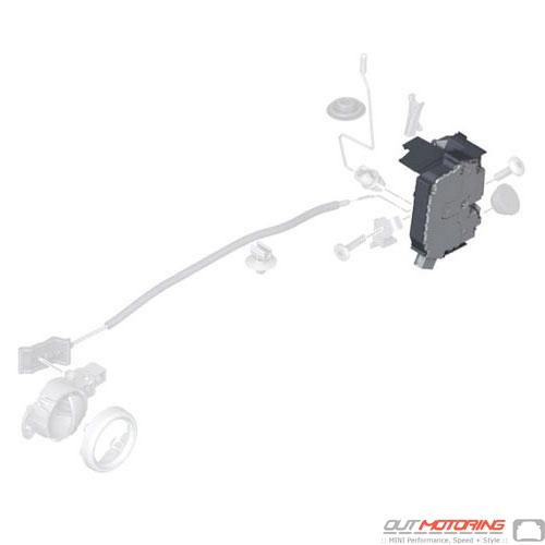 51212752596 Mini Cooper Replacement Front Door Lock Actuator Right Side Mini Cooper Accessories Mini Cooper Parts