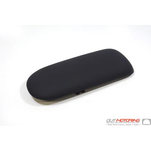 Top Pad: Armrest W/ Sliding Storage: Faux Black Leather