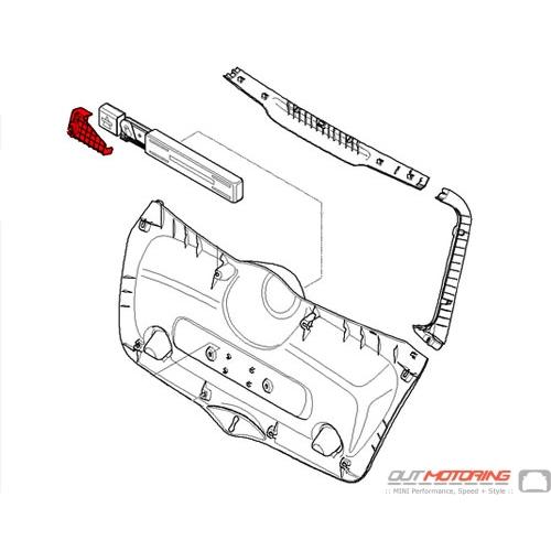 71107272406 mini cooper replacement trunk door mount bracket  right