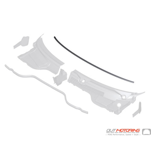 Mounting Strip: Windshield