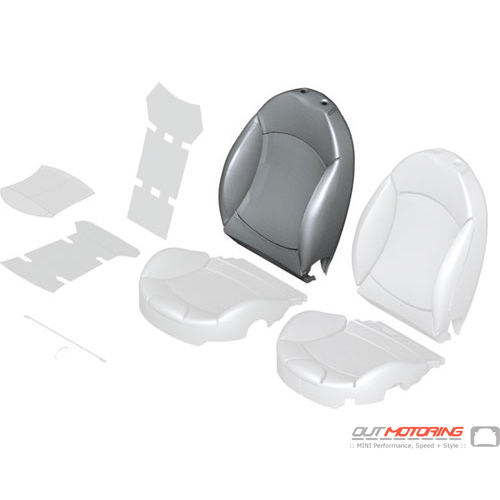 """Sports Backrest Cover: """"Lounge"""" Right: Leather: Black"""
