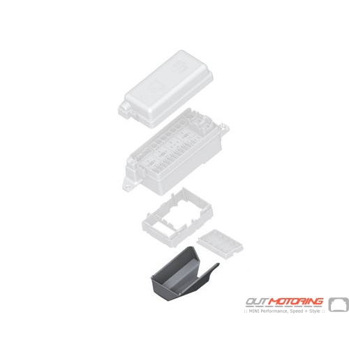 61136906629 mini cooper replacement fuse box lower cover. Black Bedroom Furniture Sets. Home Design Ideas
