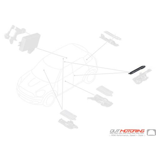 61353419999 Mini Cooper Replacement Comfort Access Interior Antenna