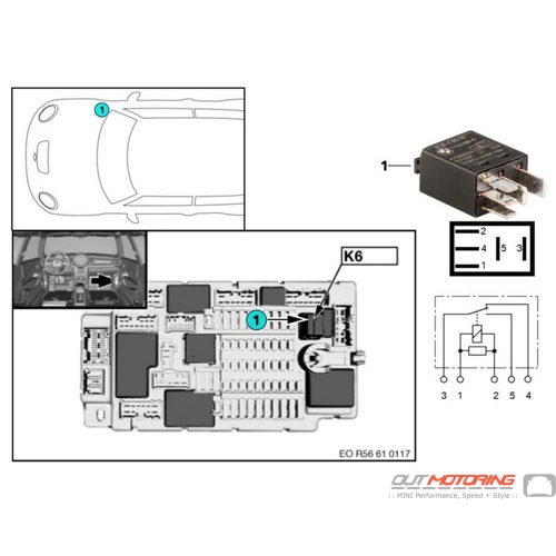 mini cooper r56 headlight wiring diagram 61316919113 mini cooper replacement relay k6 headlight cleaning  61316919113 mini cooper replacement