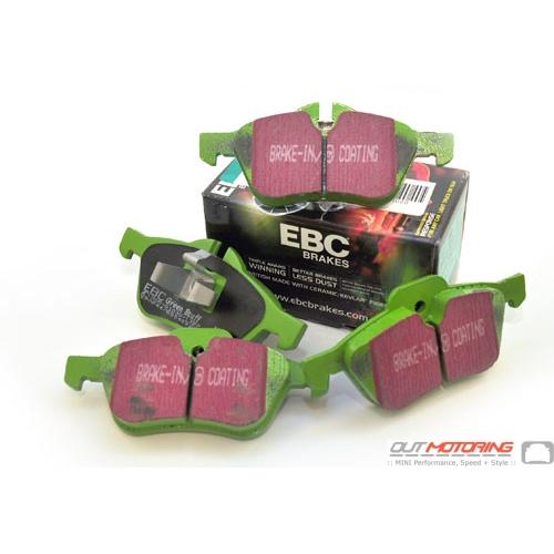 EBC GreenStuff Brake Pads: Front Set