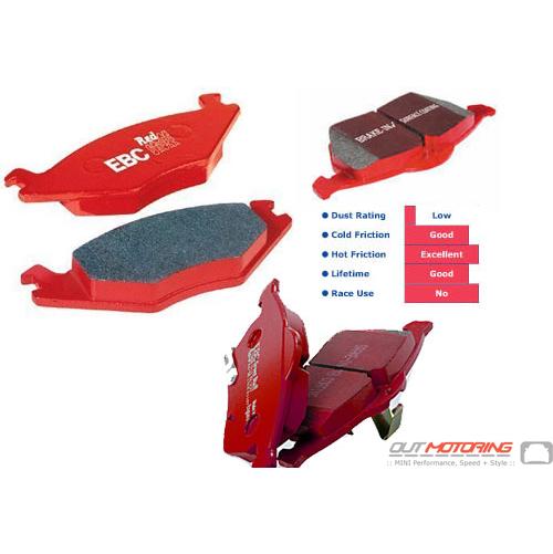 EBC RedStuff Brake Pads: Rear Set