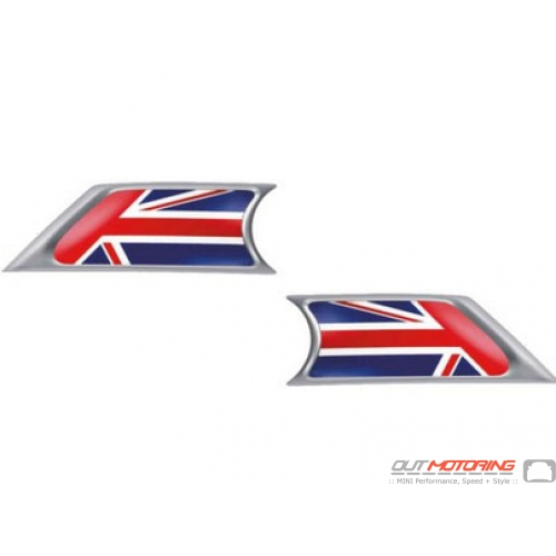 Side Marker Housings: Union Jack Inserts: R55/6/7/8/9