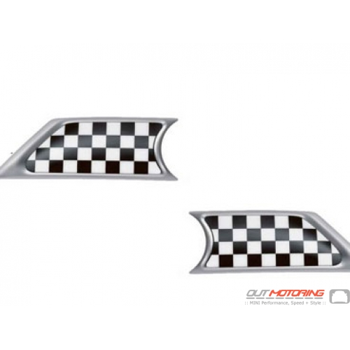 Side Marker Housings: Checkered Inserts: R55/6/7/8/9
