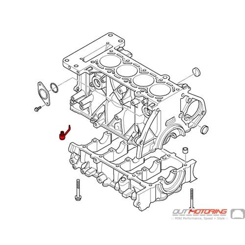 11117531576 Mini Cooper Engine Block Oil Spraying Nozzle