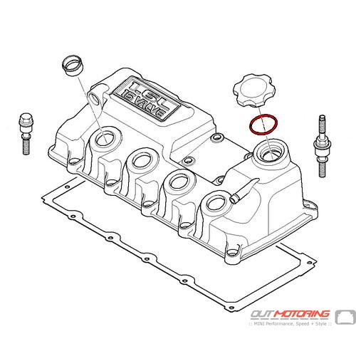 Mini Cooper Replacement Oil Filler Cap O Ring 11127514981