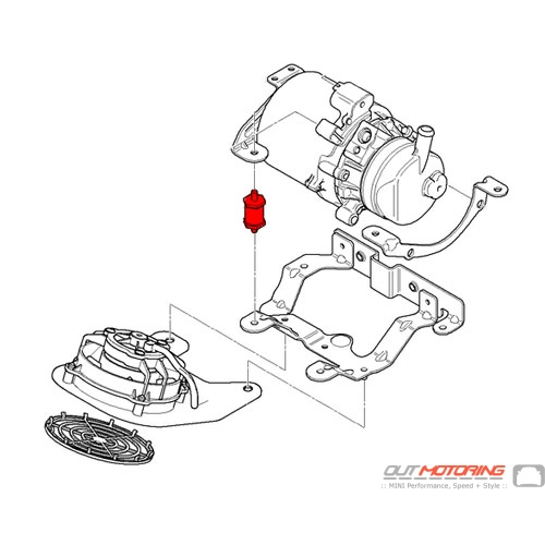 Power Steering Pump Rubber Mounting