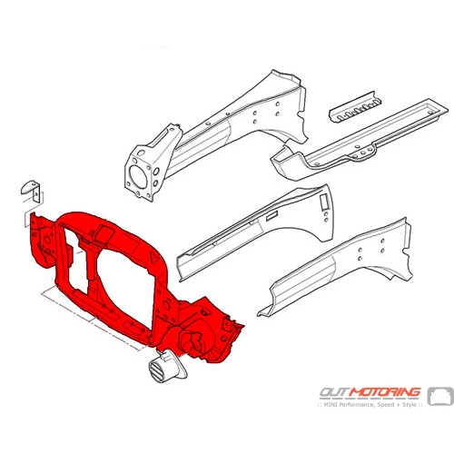 Front Panel Radiator Support: OVERSIZE