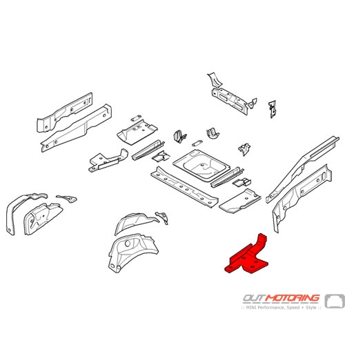 Cover: Rear Axle Support: Left